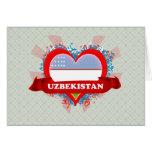Vintage I Love Uzbekistan Greeting Card