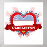 Vintage I Love Uzbekistan Posters