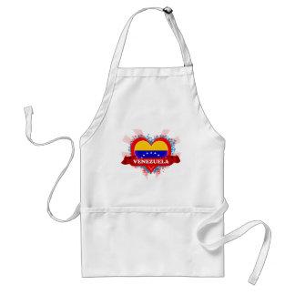 Vintage I Love Venezuela Adult Apron