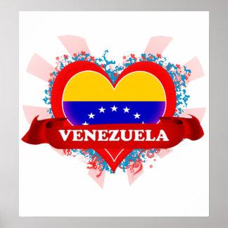 Vintage I Love Venezuela Poster