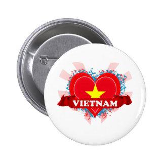 Vintage I Love Vietnam Pinback Buttons