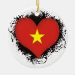 Vintage I Love Vietnam Ornaments