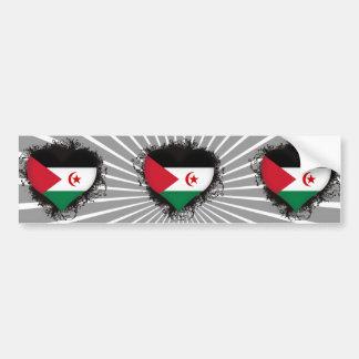 Vintage I Love Western Sahara Bumper Sticker