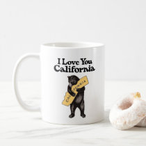 "Vintage ""I Love You, California"" Bear Coffee Mug"