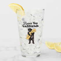 "Vintage ""I Love You, California"" Bear Glass"