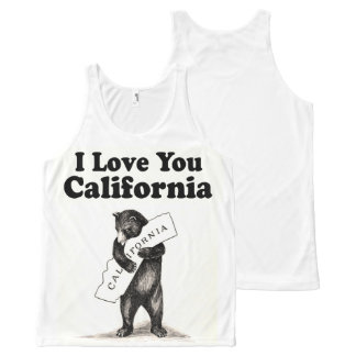 Vintage I Love You California All-Over Print Tank Top