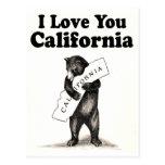 Vintage I Love You California State Bear Postcards