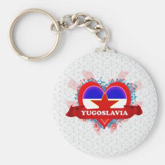 Vintage I Love Yugoslavia Keychains