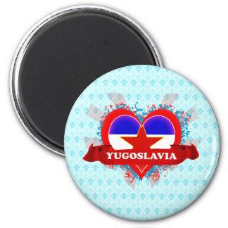 Vintage I Love Yugoslavia Refrigerator Magnets