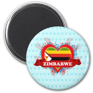 Vintage I Love Zimbabwe Magnets