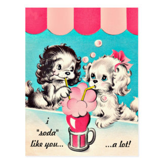"Vintage I ""Soda"" Like You Postcard"