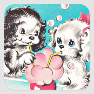"Vintage I ""Soda"" Like You Puppies Sticker"