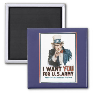 Vintage I Want You Army Poster Refrigerator Magnet