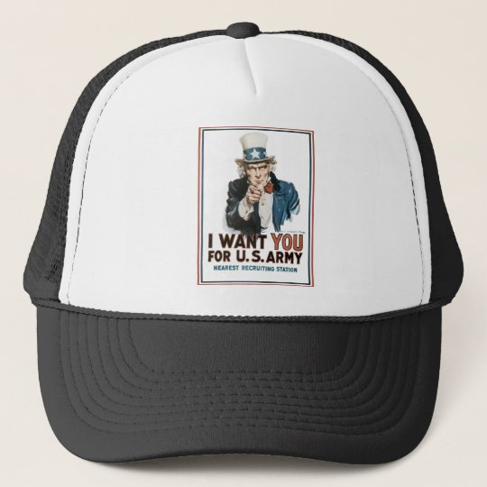 Vintage I Want You Army Poster Trucker Hat