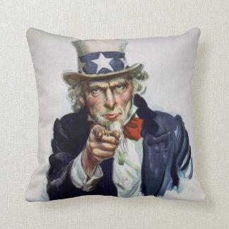 Vintage 'I Want You' Uncle Sam Decorative Pillow