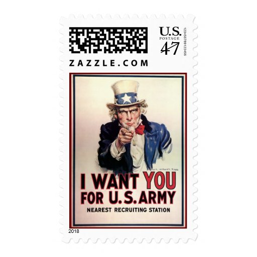 """Vintage """"I Want You"""" US Army Uncle Sam Postage"""