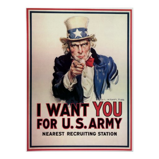"""Vintage """"I Want You"""" US Army Uncle Sam Print"""