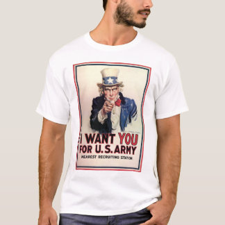 "Vintage ""I Want You"" US Army Uncle Sam T-Shirt"