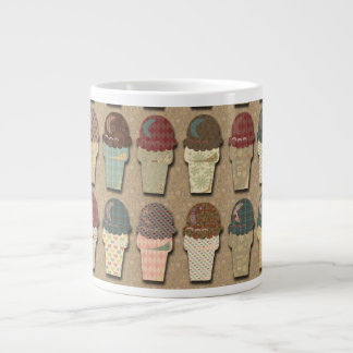 Vintage Ice Cream Pattern Giant Coffee Mug