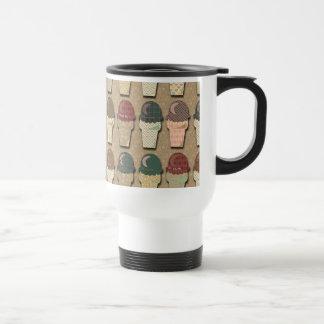 Vintage Ice Cream Pattern Travel Mug