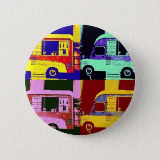Vintage ice cream truck europe pop art button