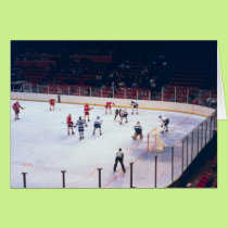 Vintage Ice Hockey Match Card