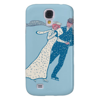 Vintage Ice Skaters Galaxy S4 Cover