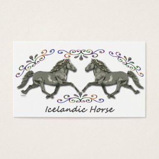 Vintage  Icelandic Business Card