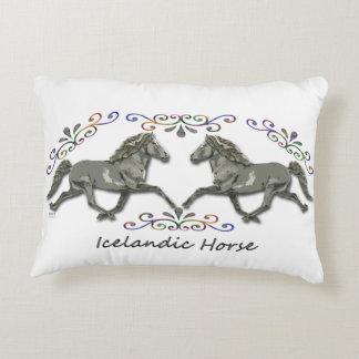 Vintage Icelandic Horses Accent Pillow