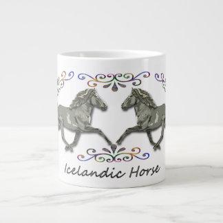 Vintage Icelandic Horses Large Coffee Mug