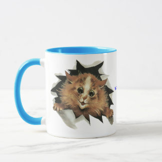 Vintage Icicle Cat is Watching You Gift Mug