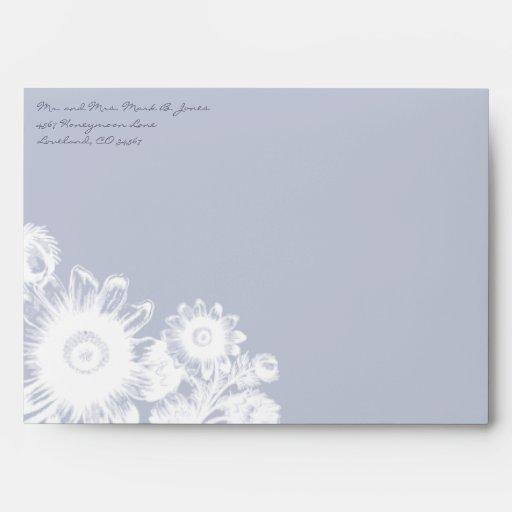 Vintage Icicle lavender Flowers Wedding Envelopes
