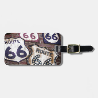 Vintage Iconic Route 66 Travel Bag Tag