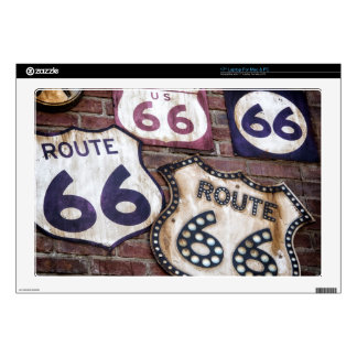 "Vintage Iconic Route 66 Decals For 17"" Laptops"