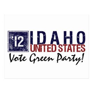Vintage Idaho del Partido Verde del voto en 2012 - Tarjeta Postal