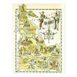 Vintage Idaho Map Postcard