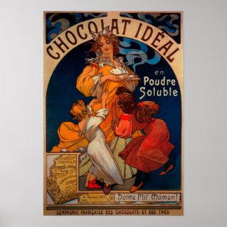 Vintage ideal PosterEurope de Chocolat Póster