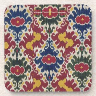 Vintage Ikat Pattern Print Coaster