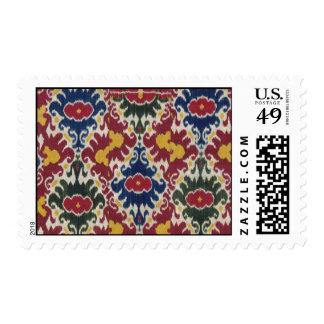 Vintage Ikat Pattern Print Stamp