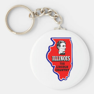 Vintage Illinois, Abe Lincoln Country Keychain