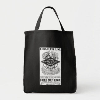 Vintage Illinois Central RR Grocery Tote Bag