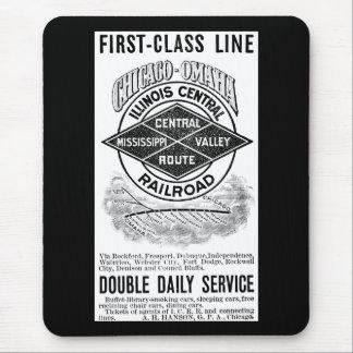 Vintage Illinois Central RR Mouse Pad