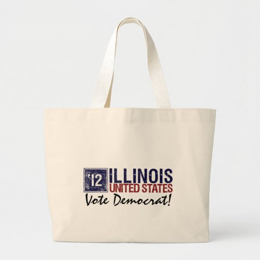 Vintage Illinois de Demócrata del voto en 2012 - Bolsa De Tela Grande