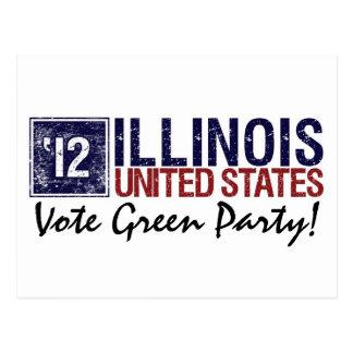 Vintage Illinois del Partido Verde del voto en 201 Postales