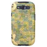 Vintage Illinois Map Samsung Galaxy S3 Cases