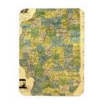 Vintage Illinois Map Vinyl Magnets