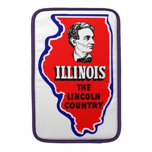 Vintage Illinois, país de Abe Lincoln Fundas Macbook Air