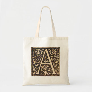 Vintage Illuminated Monogram Letter A Totebag Tote Bag