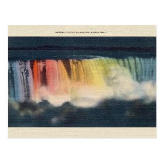 Vintage Illuminated Niagara Falls Postcard