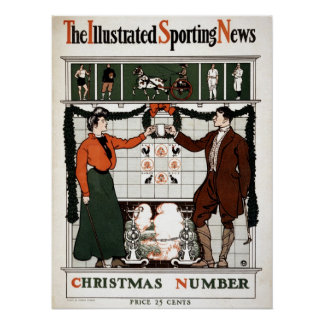 Vintage Illustrated Sporting News Poster